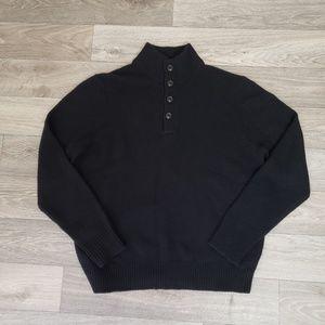 J Crew Wool-cashmere mockneck sweater L
